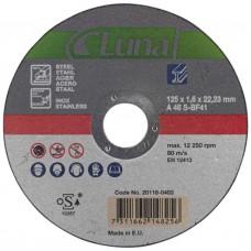 CUTOFF WHEEL 125X2,0X22,23 IN